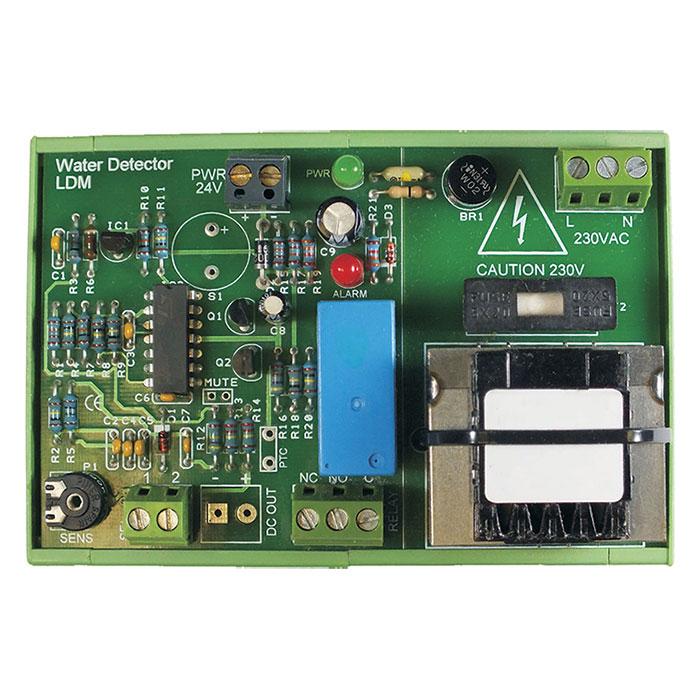 The Aquentis LDM-230 Water Leak detection DIN rail module